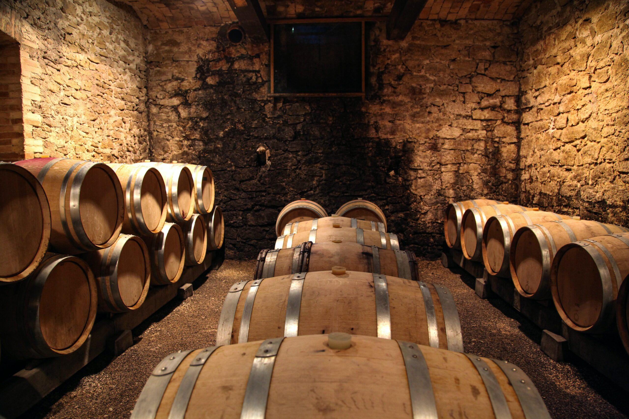 Kellerarbeit Weinkeller